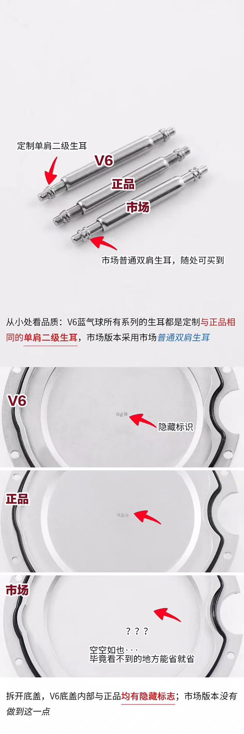 V7版蓝气球-V6厂蓝气球V7版对比正品  第7张