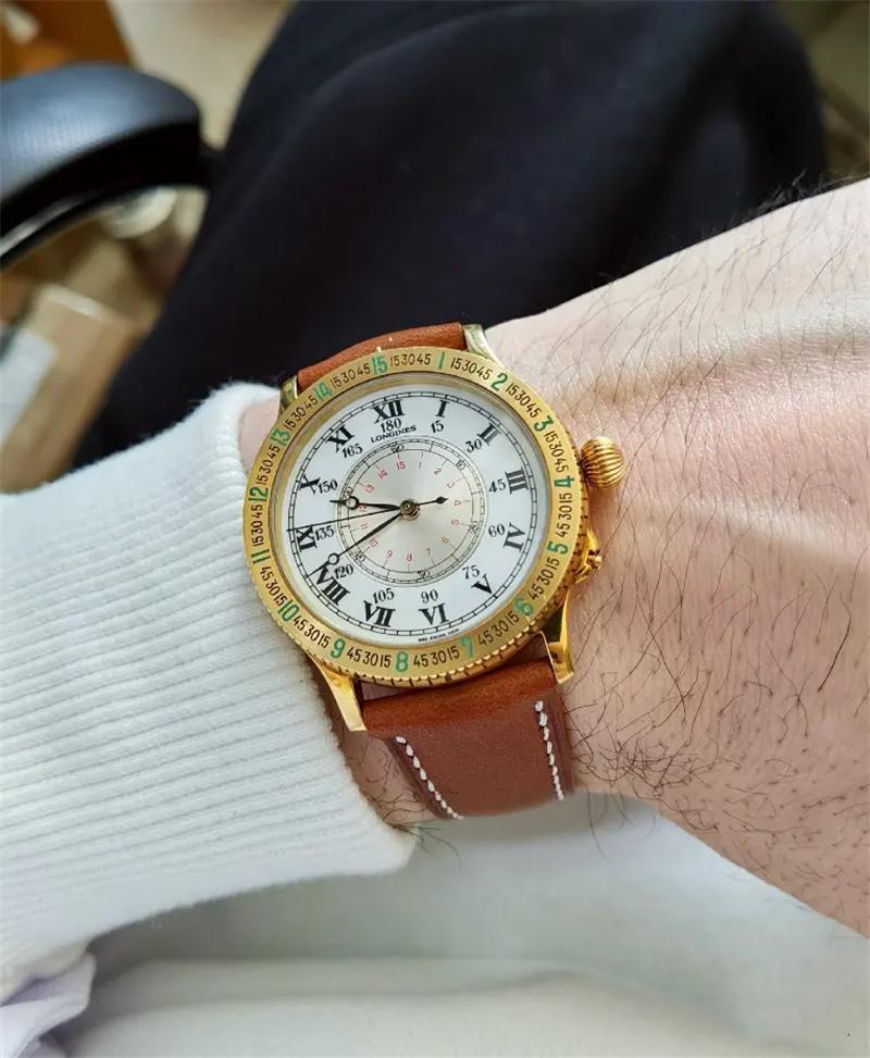 分享一枚60周年纪念款林白飞行腕表